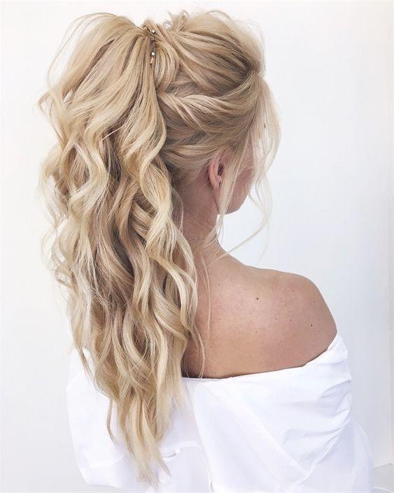 Styles De Cheveux De Demoiselle D Honneur Populaires 2019 Coiffure Demoiselle D Honneur Coiffure Mariage Cheveux Long Coiffure