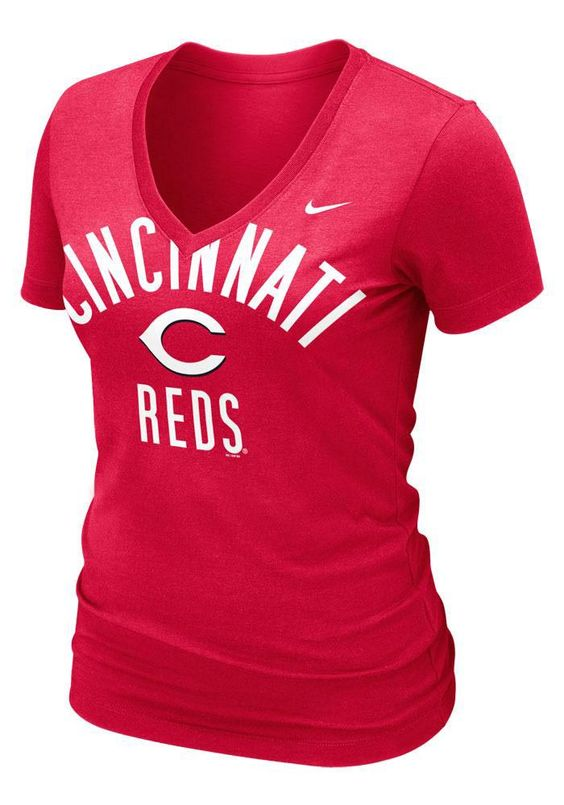 Cincinnati Reds Women's Red Old Faithful T-Shirt by Nike $32.00 www.rallyhouse.com