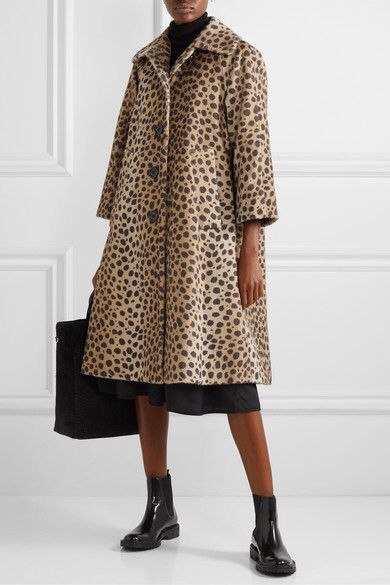 Marc Jacobs | Animal-print alpaca and cotton-blend coat | NET-A-PORTER.COM