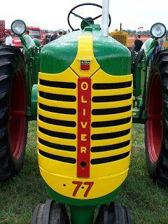 Vintage Oliver tractor, 1977.