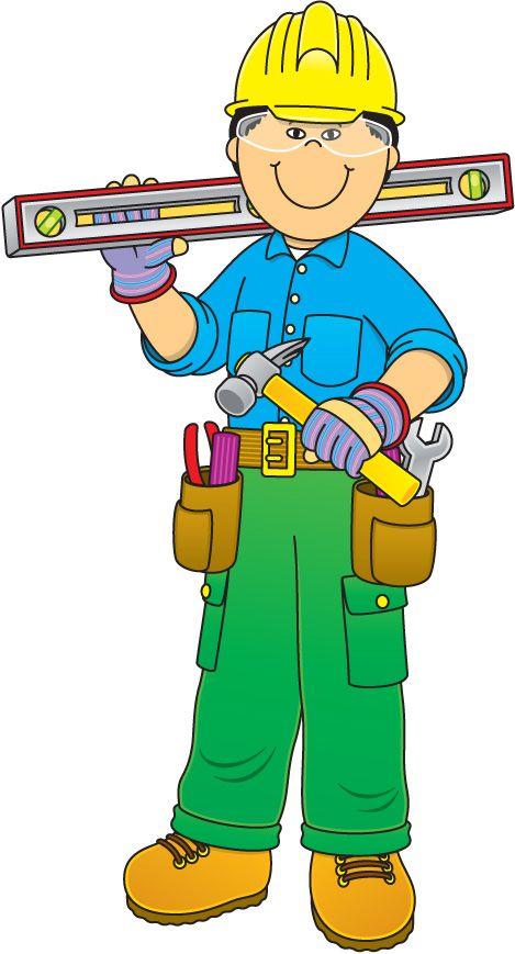 clipart construction worker cartoon - photo #49