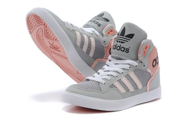 adidas extaball womens high tops m20173 grey pink trainers