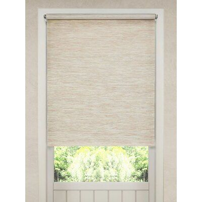 28 x 64 in Bamboo Roman Shade Cordless Light Filtering Window Blind White Washed