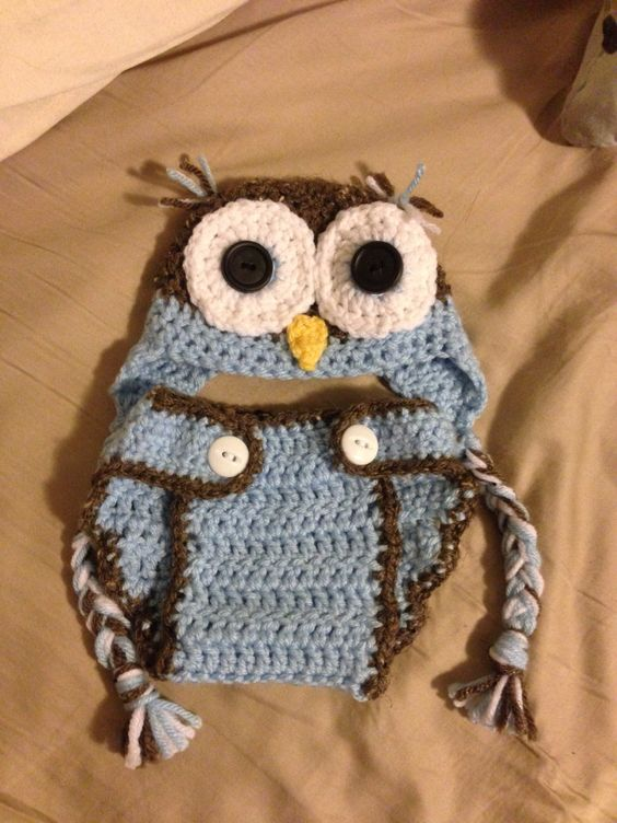 Owl Hat And Diaper Cover Inspiration From Repeat Crafter Me