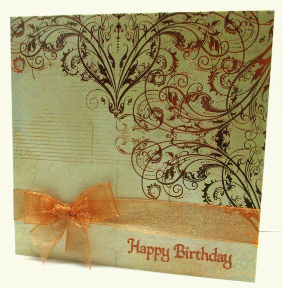 Jenfa Cards: Copper Birthday