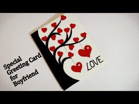 Beautiful Handmade Greeting Card For Boyfriend Special Handmade Greeting Car Creative Birthday Cards Greeting Cards Handmade Birthday Handmade Birthday Cards
