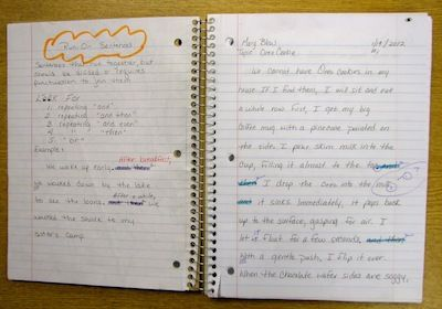 Which is the better way for writing in class-in a notebook or on papers?