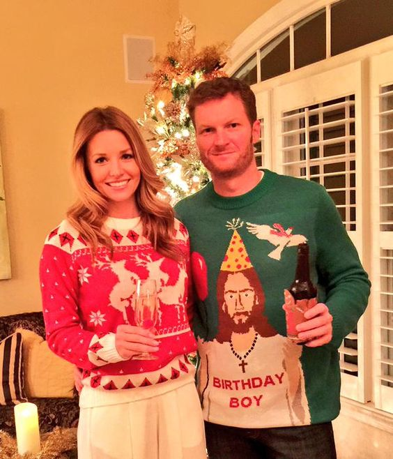 Headed to a Christmas party. It's not an ugly sweater party but I wore one anyways. #overachieving