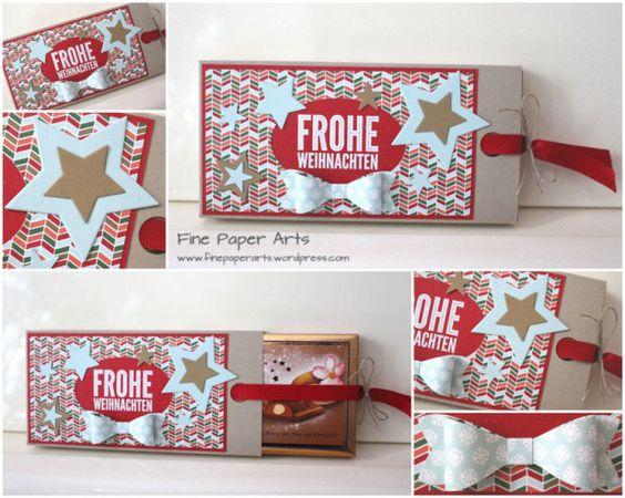 weihnachtliche schokoladen schiebebox feinpapier kunst. Black Bedroom Furniture Sets. Home Design Ideas