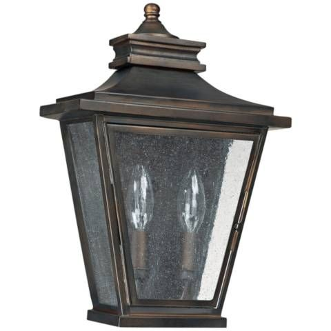 This Bronze And Clear Antique Glass Outdoor Wall Light Is A Great Addition To A Traditional Style Home E With Images Wall Lights Outdoor Wall Lighting Outdoor Wall Lantern