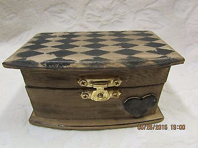 Black and Stained Harlequin Pattern Wedding Ring Bearer Pillow Box