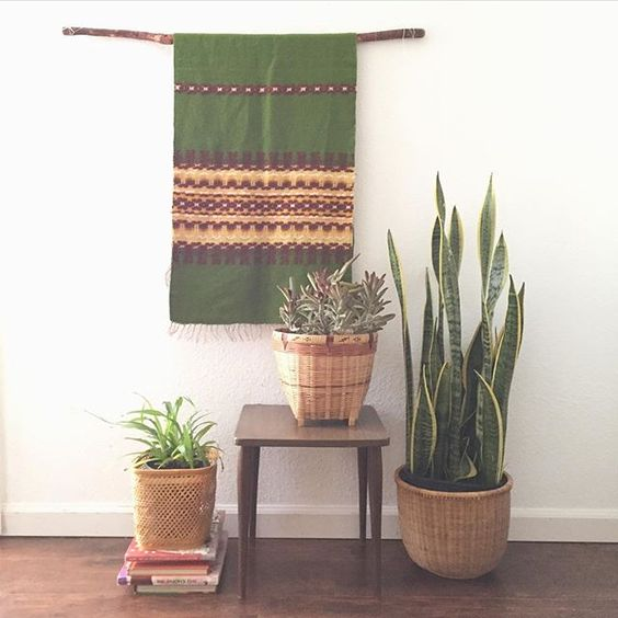 Woven rattan bamboo basket planters. My favorites the one in the center that's…