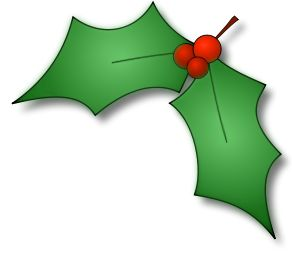 Clip Art Holly Leaves Clipart seasons christmas and love on pinterest holly leaf clipart best