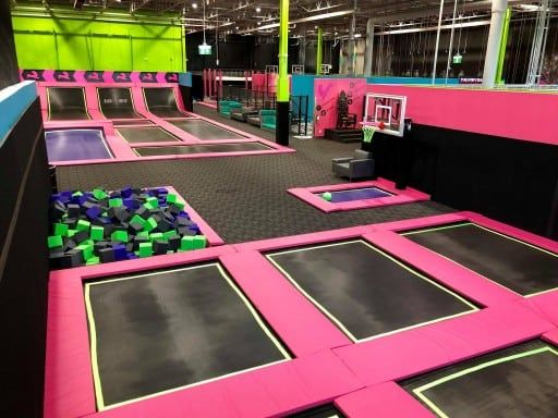 Flying Squirrel South Calgary The Worlds Largest Indoor Trampoline Parks Indoor Trampoline Trampoline Park Trampoline