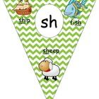 Included in set  sh poster th  poster ch poster wh poster  Each poster shows the digraph and then provides a picture and word using the sound with ...