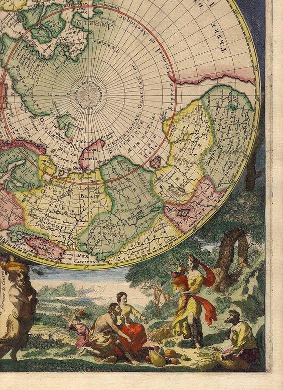 Antique World Map.