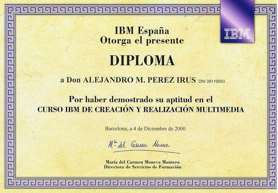 2000-12-Cursos-Formacion-Titulaciones-IBM-Informatica-Multimedia-Web-Alejandro-Perez-Irus-AlejandroPI-Mentoring