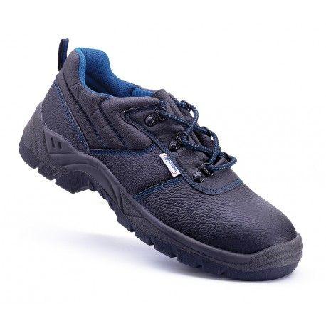 """Zapato piel negra S1P con suela de Poliuretano doble densidad.Mod. """"UXAMA"""". Referencia  1688-Z Marca:  Marca PL  Aplicaciones: Uso General en múltiples sectores y aplicaciones donde se necesite un calzado de seguridad (tope de seguridad y plantilla anti-perforación), como construcción, talleres, logística, automoción y fabricación e industria en general.  Características y ventajas: - Piel negra S1P - Tope de seguridad y plantilla anti-perforación en acero."""