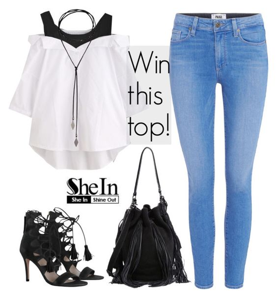 """""""New Shein Contest! + Instagram account"""" by dora04 ❤ liked on Polyvore featuring Paige Denim, Zimmermann and Loeffler Randall"""