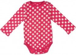 Frugi Betty Body, Raspberry (NB-24m)