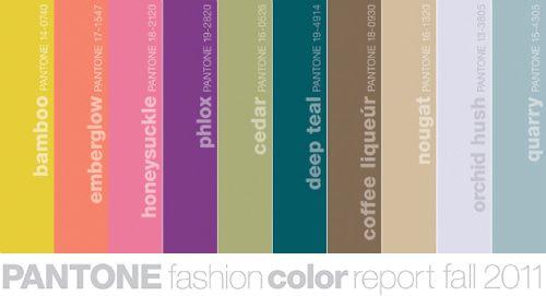 fall fashion pantone