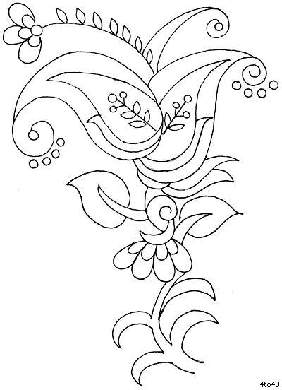 Textile Muster, Sarika Agarwal Textile Blümchenranken 15, indische Motive…