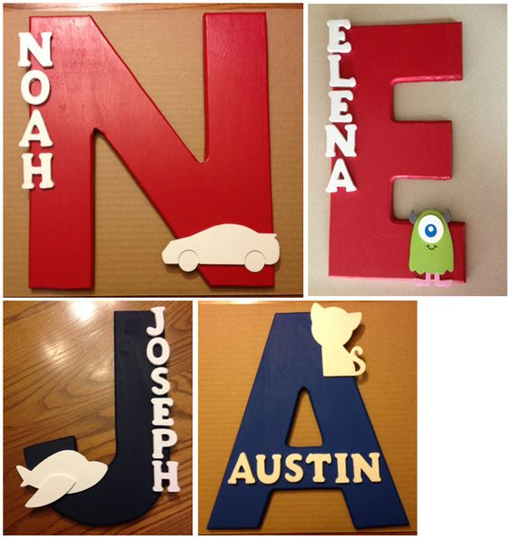 Name Signs, Wood Names And For Kids On Pinterest
