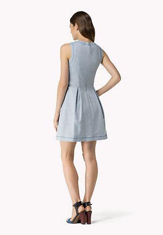 Kleid Aus Leinen- Und Baumwoll-piqué