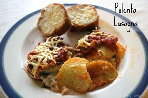 Polenta Lasagna. Gluten and Dairy Free.