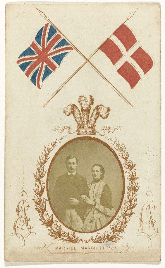 Edward, Prince of Wales & Alexandra van Denemarken, Huwelijksportret (anoniem, 1863).