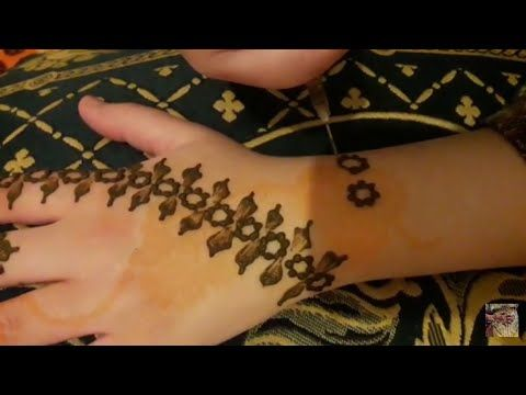 Henna Henna Design مهندي نقش الخطفة تعليم النقش بالحناء نقش حناء بالإبرة سهل و بسيط Youtube Henna Hand Tattoo Henna Designs Hand Tattoos