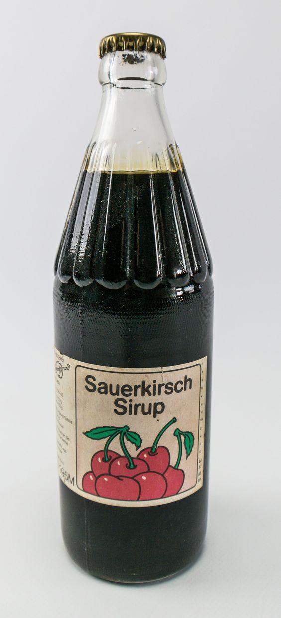 """DDR Museum - Museum: Objektdatenbank - """"Sauerkirsch Sirup"""" Copyright: DDR Museum, Berlin. Eine kommerzielle Nutzung des Bildes ist nicht erlaubt, but feel free to repin it!"""