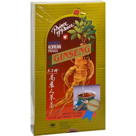 Prince Of Peace Instant Korean Panax Ginseng Tea - 100 Tea Bags