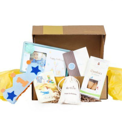 "Birthday Box - ""We hope the party goodies in this box will make your baby's birthday even more special."" Use code PINTEREST for $10 OFF off your first box on a Monthly Subscription to @Citrus Lane."