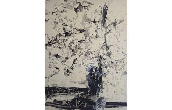 Andreea Albani Fleurs du mal  [2014]  Oil, acrylic and marker on canvas 80 × 60 cm (31.5 × 23.6 inch) Estimate €1,000 - €1,600  http://lavacow.com/fleurs-du-mal.html