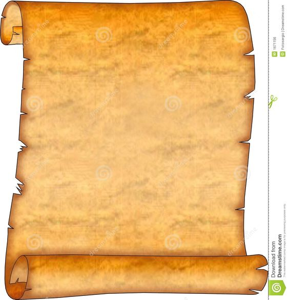 Brown Blank Ancient Leather Scroll