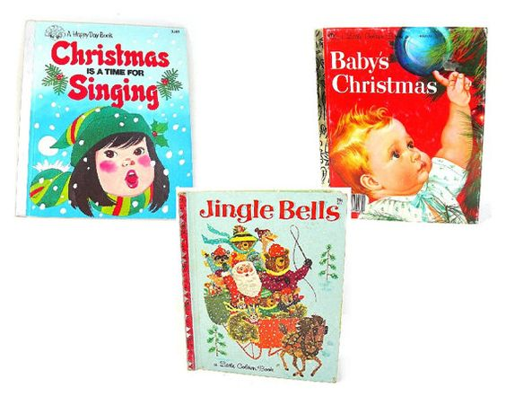 Little Golden Book Lot of 3 Vintage Christmas by AtticDustAntiques