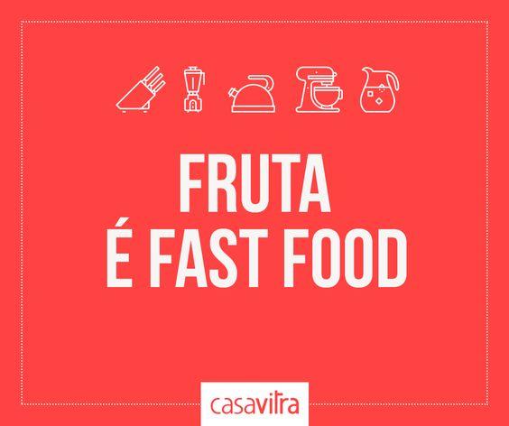 Um alimento fresquinho, saudável, que mata a fome e faz bem para o corpo. O melhor de tudo? Não exige preparo nenhum. Quem foi que disse que fruta não é fast food?