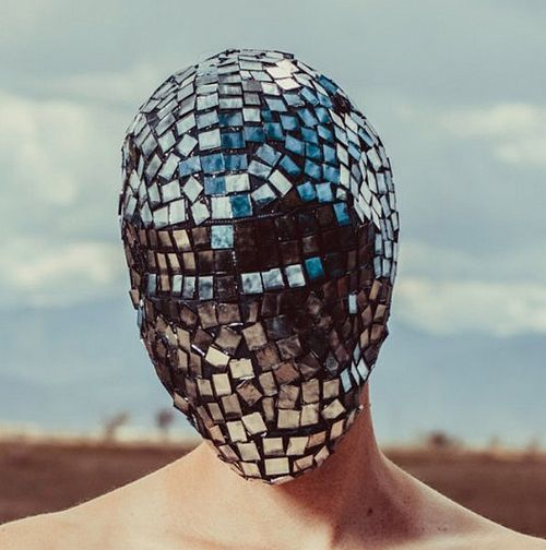Faceless mirrored Mask mirror face mask,