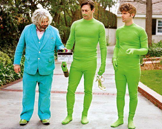 Adam Scott and Jon Hamm in Green Onesies. Nuff Said.