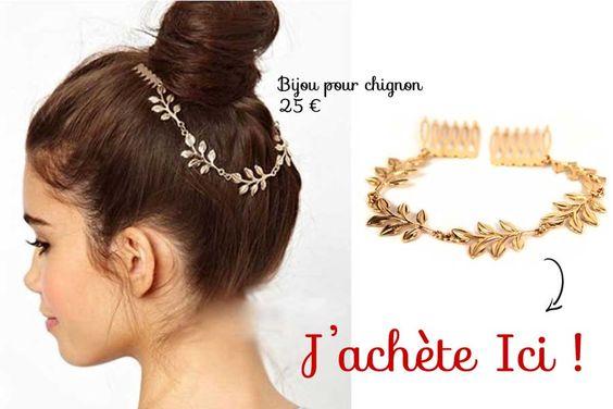 accessoires et bijoux de coiffure pour chignon coiffures chignons et petits pains. Black Bedroom Furniture Sets. Home Design Ideas