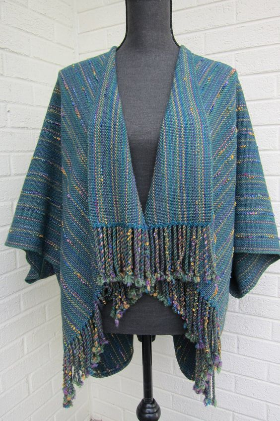 Handwoven Saco Unstructured Jacket in Luxurious by MeridithWeaves