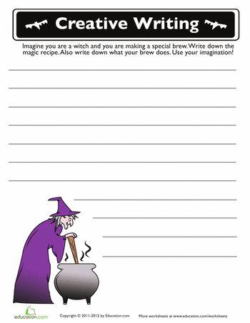 Halloween Stories halloween stories for kids printable Worksheets Halloween Story Starters 3