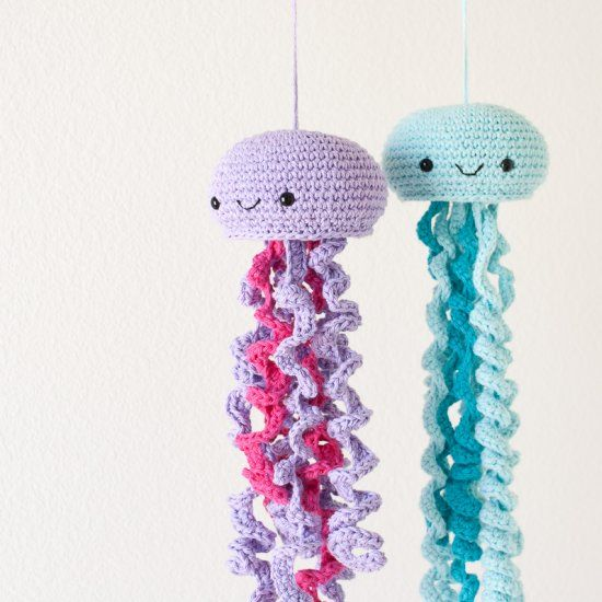 Free Crochet Pattern For Jellyfish : Hang out with these friendly jellyfish! FREE crochet ...
