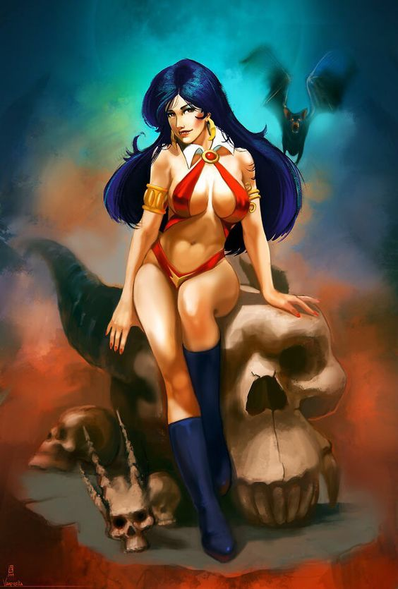 Loves this vampirella lady death hentai that