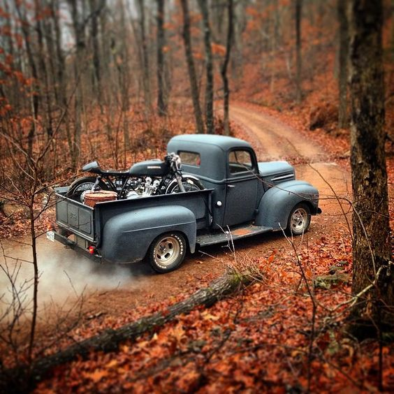 Classic truck and Motorcycles .Classic Car Art&Design @classic_car_art #ClassicCarArtDesign