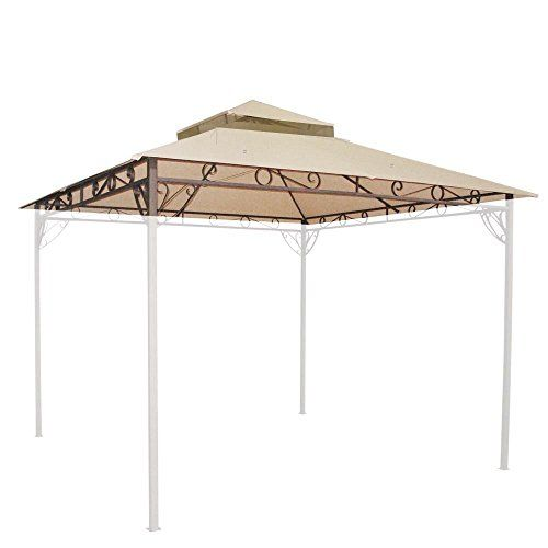 106x106 Waterproof Gazebo Top 2 Tier Replacement Outdoor Canopy For Madaga Best Value Buy On Amazon Gazebos Outdoor Pergola Gazebo Canopy Outdoor