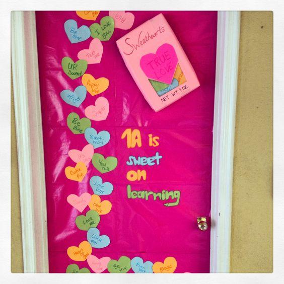 Preschool Classroom Valentine Ideas ~ Decorate school door for valentine valentines day