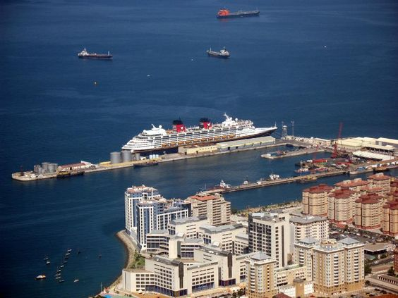 Disney Magic docked at Gibraltar, August 2007