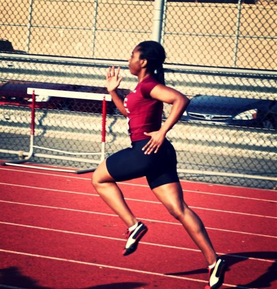 Running the 400 meter for Track and Field